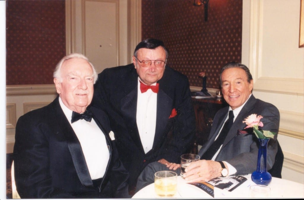 Walter Cronkite, George Glazer and Mike Wallace